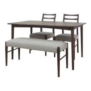 ダイニングテーブル 4点セット ミディアムブラウン VELOCE DINING 4SET ise-4501910s1  /テーブル/Table/天板/ genco1