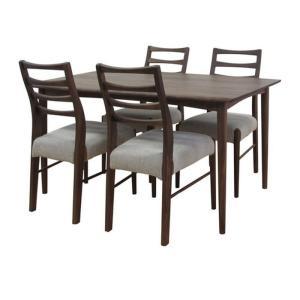 ダイニングテーブル 5点セット ミディアムブラウン VELOCE DINING 5SET ise-4501922s1  /テーブル/Table/天板/ genco1