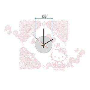 ステッカー 時計 ウォールデコクロック Hello Kitty ハローキティ レース K-001 kar-2913808s1 genco1