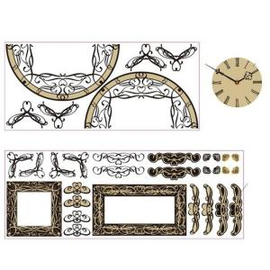 ステッカー 時計 ウォールデコクロック アングル KK-002 kar-2913815s1 genco1