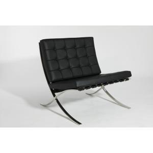【保証付き】 ミース・ファン・デル・ローエ バルセロナ チェア スタンダードレザー kaw-ch8002asl  /デザイナーズ/家具/ジェネリック/リプロダクト/椅子/イ|genco1