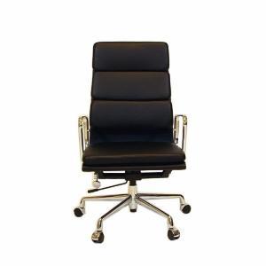 (保証付き)チャールズ・レイ・イームズ アルミナム オフィスチェア ハイバック ソフトパッド Leather kaw-chea07hsle|genco1