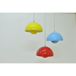 【保証付き】ヴェルナー・パントン Flower Pot Lamp レッド kaw-ecs617red  /デザイナーズ/家具/ジェネリック/リプロダクト/照明/ライト/電気/リビング/ダイ|genco1