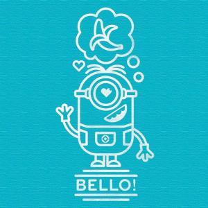 ミニオン ファブリックパネル グルー ミニオンズ min-0010-blu アートパネル アートデリ Mサイズ 30cm×30cm lib-5364959s1|genco1