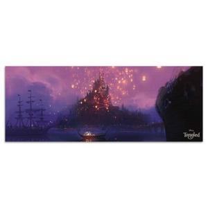 ラプンツェル ファブリックパネル ディズニー dsny-w-1701-01 アートパネル アートデリ ワイドサイズ 30cm×78.5cm lib-5412461s1|genco1