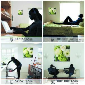 竹内陽子 ファブリックボード 花 写真 yt-300-green-002 アートパネル アートデリ Mサイズ 30cm×30cm lib-5701851s1|genco1|02