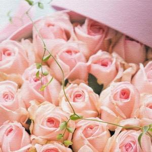 竹内陽子 壁掛けアート 花 写真 yt-300-pink-006 アートパネル アートデリ Lサイズ 57cm×57cm lib-5701887s3|genco1
