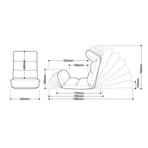 和楽の雲LIGHT 日本製座椅子 リクライニング付きチェアー A448 sg-10097|genco1|04