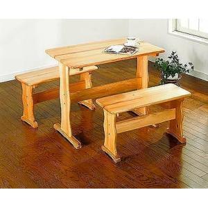 ダイニング3点セット パインテーブル・ベンチ 2脚セット カントリー調 sk-san008  /テーブル/Table/天板/ genco1