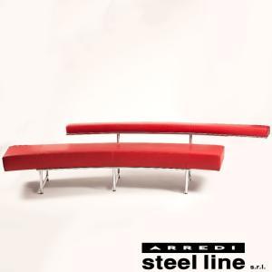 [サイズ]W280xD95xH60cm [素材]厚手セミアニリン本革、スチールクロムメッキ仕上げ、高...