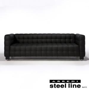[サイズ]W224×D77×72cm [素材]厚手セミアニリン本革、ビーチ無垢材、高密度ウレタンフォ...