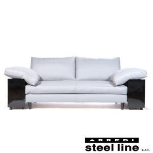 [サイズ]W240xD87xH90cm [素材]厚手セミアニリン本革、高密度ウレタンフォーム、無垢材...