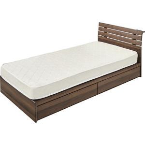 引き出し付きベッド W99センチ az-b-90s-br|genco2