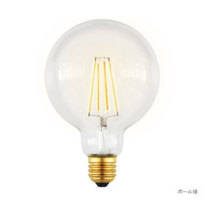 LEDフィラメント電球 ボール球 3個セット di-bl2010ts genco2