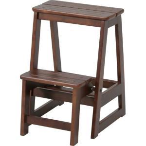 木製コンパクトふみ台 Y−100 ブラウン fj-22657|genco2
