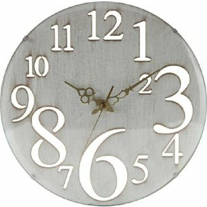 壁掛け時計 レトロ ホワイト fj-56920|genco2