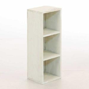 木製3段ボックスmoku ホワイト fj-91749|genco2