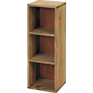 木製3段ボックスmoku ブラウン fj-91750|genco2