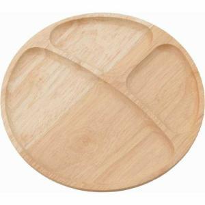 木製ラウンドディッシュ 仕切り付 ナチュラル fj-96196|genco2