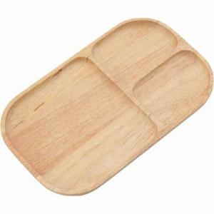 木製スクエアトレー 仕切り付 ボヌール ナチュラル fj-96197|genco2