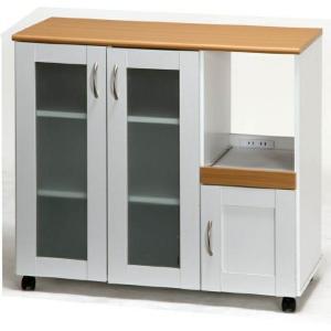 ファミリー キッチンカウンター90 FA9083NA/WH ホワイト/ナチュラル fj-96364|genco2