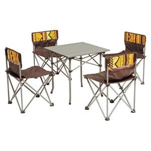 アウトドア テーブルチェアセット 5点セット hag-lgs-4225s genco2