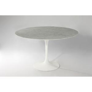 (保証付き)エーロ・サーリネン ラウンド ダイニングテーブル W122 大理石 kaw-dt6131awhmar|genco2