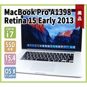 MacBook Pro A1398 Retina 15 Early 2013( Core-i7 2.7G / 大容量16GBメモリ / 高速SSD512GB / 充放電69回 / 超高解像度 WQXGA / OS X El Capitan )|genel