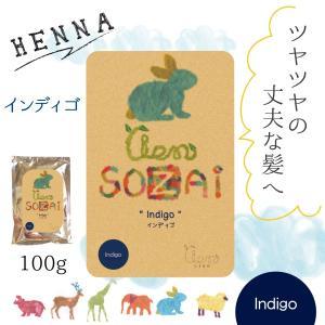 ヘナ 無添加ヘナ インディゴ:lien sozai ヘナ100g|genenet