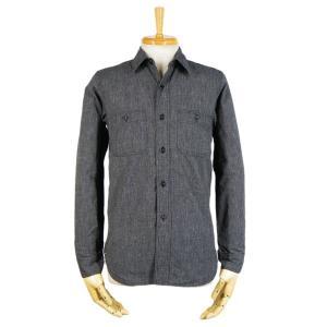 シャンブレーシャツ - 撚り杢 ブラックシャンブレー (ワンウォッシュ)|generag