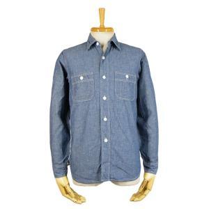 ブルーシャンブレー ワークシャツ(ワンウォッシュ) - Blue chambley L/S shirts (ONE-WASH)|generag
