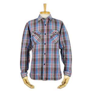 ヘビーネルシャツ ブルー (ワンウォッシュ) - Heavy Nel L/S shirts Blue check (ONE-WASH)|generag