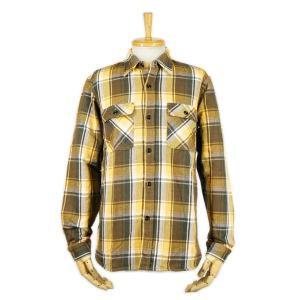 ヘビーネルシャツ イエロー (ワンウォッシュ) - Heavy Nel L/S shirts Yellow check (ONE-WASH)|generag