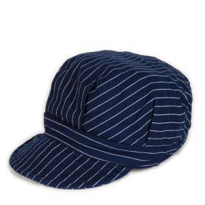 ウォバッシュ ワークキャップ(ワンウォッシュ) - Work Cap Wabash Stripe (ONE-WASH)|generag
