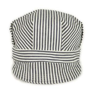 ヒッコリーストライプ ワークキャップ(ワンウォッシュ) - Work Cap Hickory Stripe (ONE-WASH)|generag|02