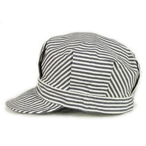 ヒッコリーストライプ ワークキャップ(ワンウォッシュ) - Work Cap Hickory Stripe (ONE-WASH)|generag|03