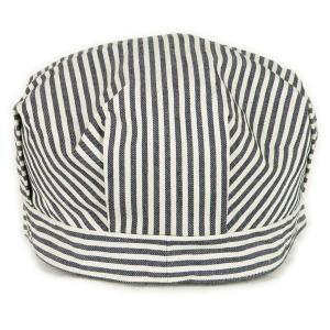 ヒッコリーストライプ ワークキャップ(ワンウォッシュ) - Work Cap Hickory Stripe (ONE-WASH)|generag|04