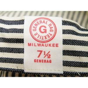 ヒッコリーストライプ ワークキャップ(ワンウォッシュ) - Work Cap Hickory Stripe (ONE-WASH)|generag|06