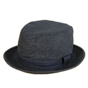 ブラックシャンブレー センターデント ハット(ノンウォッシュ) - Black chambley Center dent Hat(NON-WASH)|generag