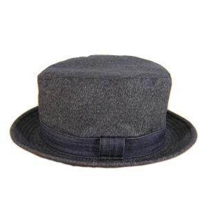 ブラックシャンブレー センターデント ハット(ノンウォッシュ) - Black chambley Center dent Hat(NON-WASH)|generag|02