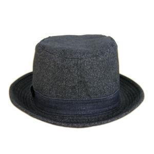 ブラックシャンブレー センターデント ハット(ノンウォッシュ) - Black chambley Center dent Hat(NON-WASH)|generag|03