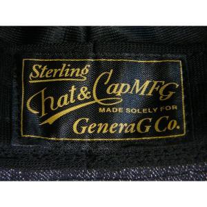 ブラックシャンブレー センターデント ハット(ノンウォッシュ) - Black chambley Center dent Hat(NON-WASH)|generag|05