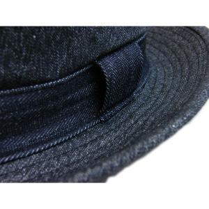 ブラックシャンブレー センターデント ハット(ノンウォッシュ) - Black chambley Center dent Hat(NON-WASH)|generag|06