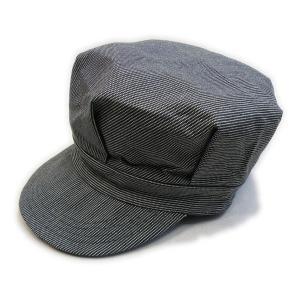 ピンドットストライプ ブラック ワークキャップ(ワンウォッシュ) - Work Cap Black Pin dot stripe(ONE-WASH)|generag
