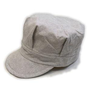 ピンドットストライプ ホワイト ワークキャップ(ワンウォッシュ) - Work Cap White Pin dot stripe(ONE-WASH)|generag