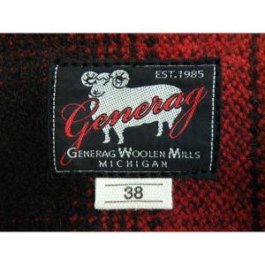 ウールベスト オンブレチェック - Onbre check Wool Work vest(Red check) generag 03