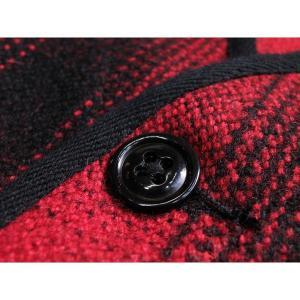 ウールベスト オンブレチェック - Onbre check Wool Work vest(Red check) generag 05
