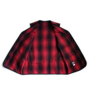 ウールベスト オンブレチェック - Onbre check Wool Work vest(Red check) generag 06