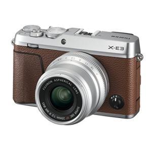 富士フイルム ミラーレス一眼 X-E3単焦点レンズキット ブラウン X-E3LK23F2-BW
