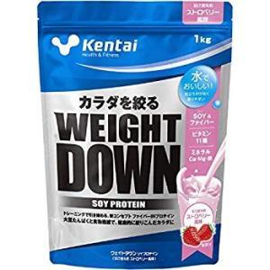 Kentai ウェイトダウン ソイプロテイン ストロベリー風味 1kg|general-purpose